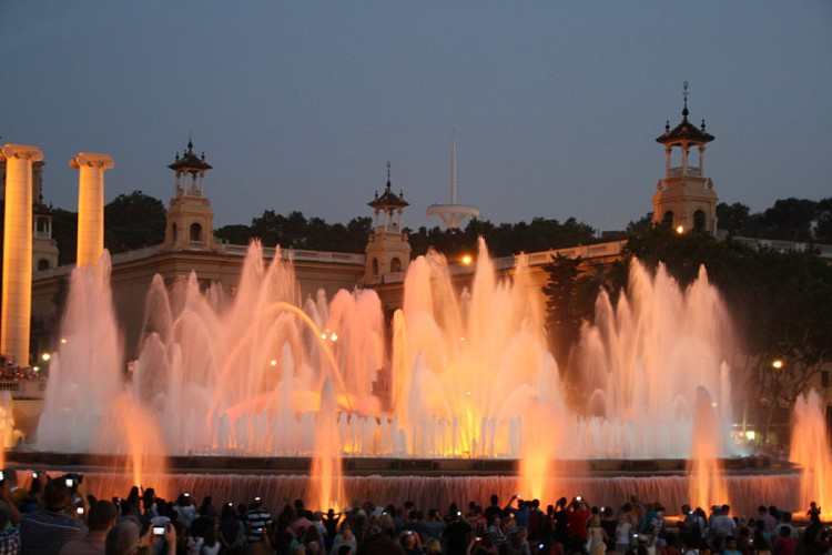 Die Magic Fountain in Barcelona