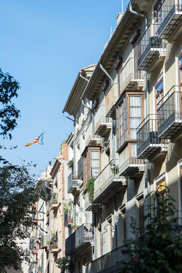 Fassaden im Stadtteil El Carmen