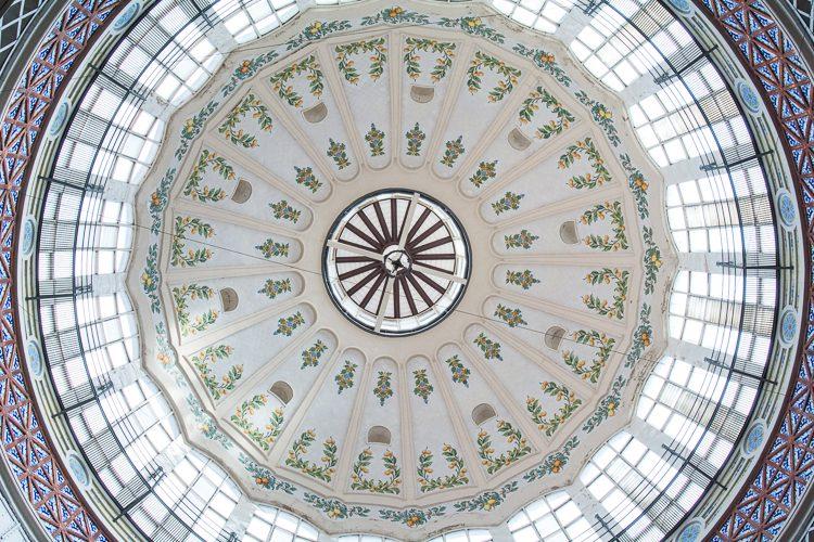 die Kuppel in der Markthalle