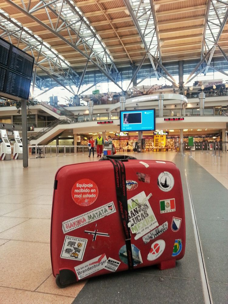 er GoOnTravel Koffer am Hamburg Airport