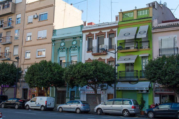 Fassaden in der Avenida Puerto
