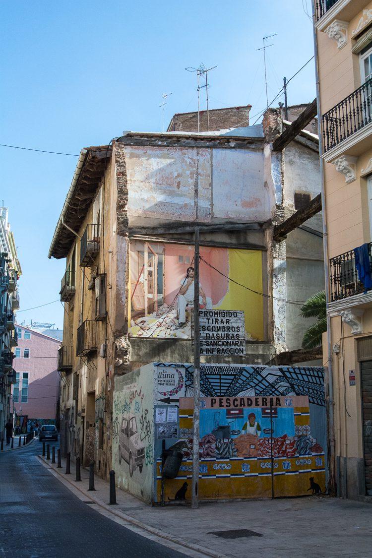 in den Straßen von El Botànic