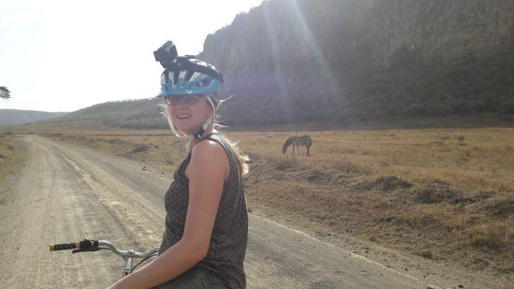 mit dem Rad zu Zebras und Gazellen