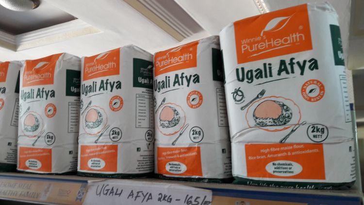Ugali abgepackt im Supermarkt