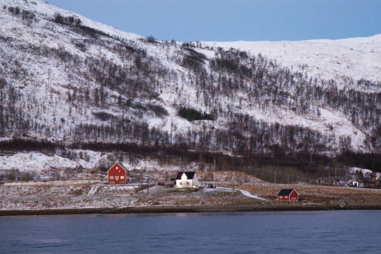 Typisch skandinavische Holzhäuser