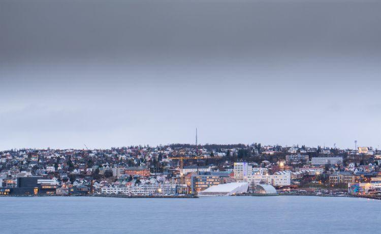 Blick auf Tromsö und das Polaria