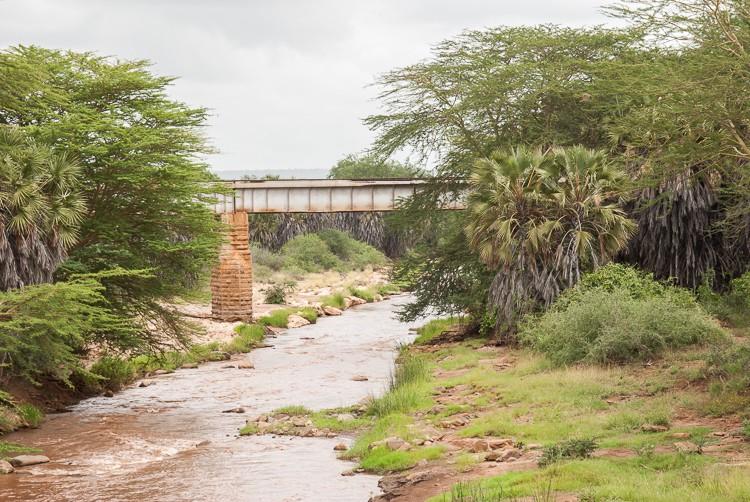 Eisenbahnbrücke über den Tsavo