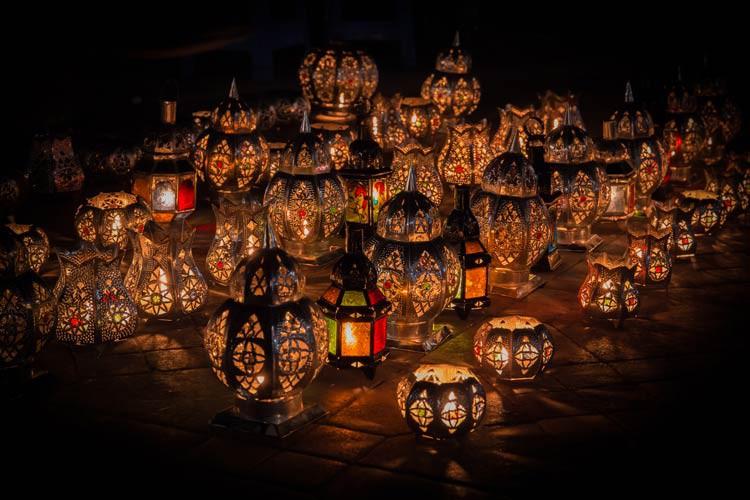 Lichter auf dem Djaama El Fna
