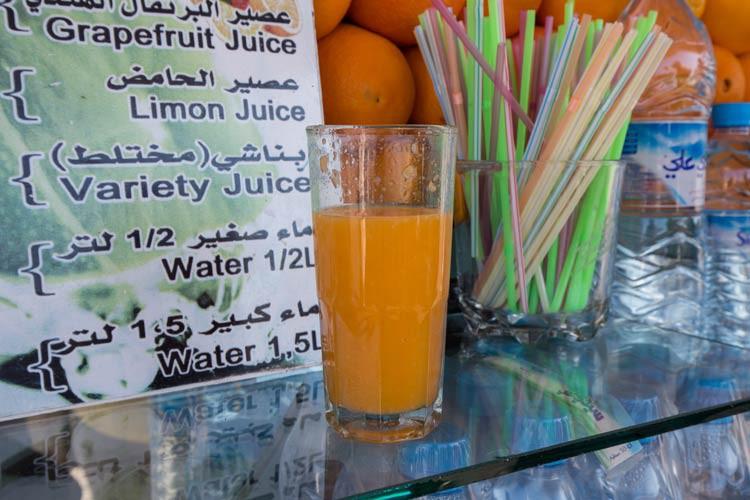 Auf dem Djaama El Fna gibt es leckeren frisch gepressten Orangensaft
