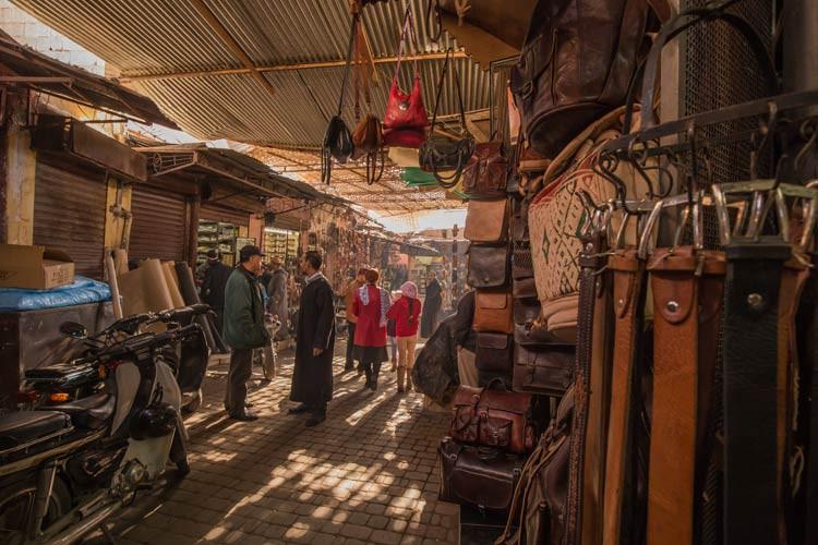 Die Souks in Marrakesch