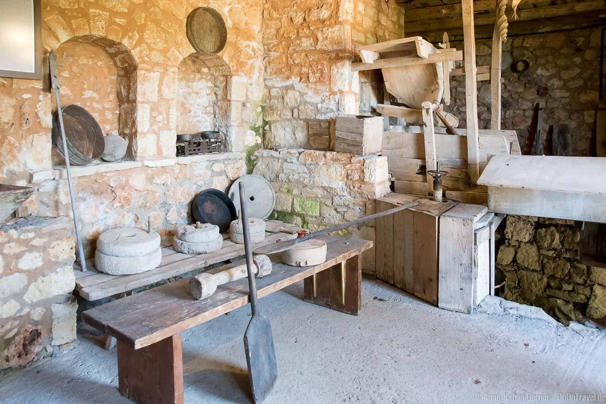 Innenraum der Wassermühle
