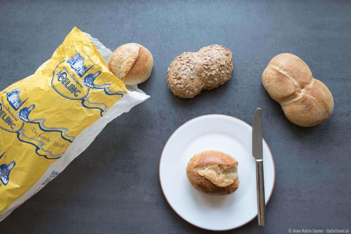Schrippen, Dinkelbrötchen und Sylter Zwilling von der Bäckerei Abeling
