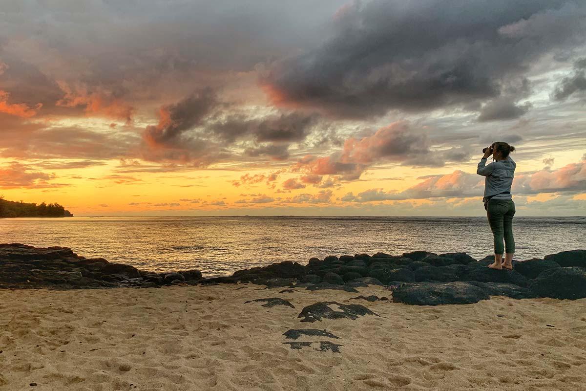 Anini Beach zum Sonnenuntergang