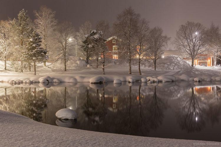 Nachts in Arjeplog