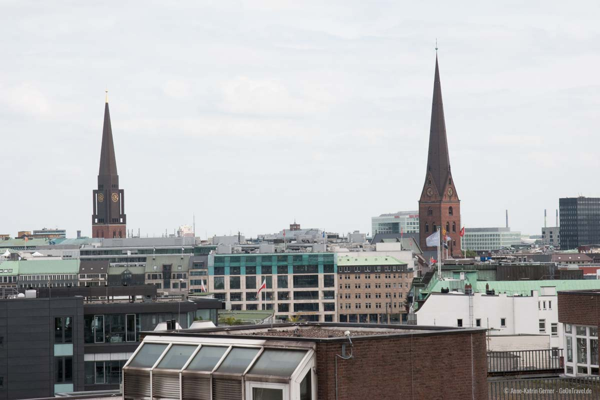 Zimmerausblick SIDE Design Hotel Hamburg