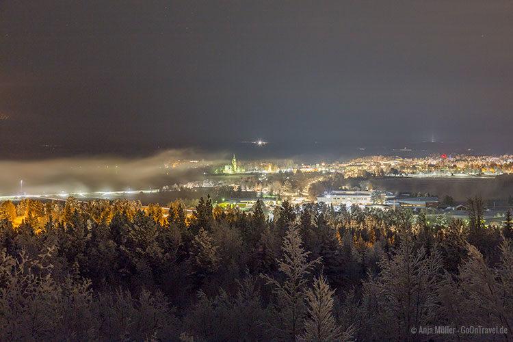 Blick auf Arjeplog am Abend