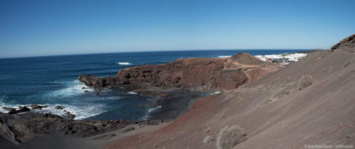 Blick auf El Golfo und Aussichtspunkt Mirador El Golfo