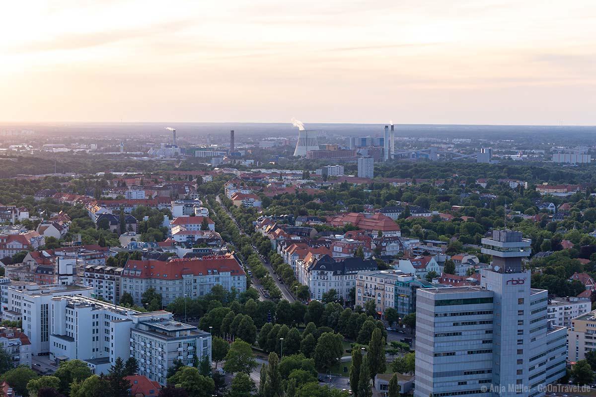 Herrliche Aussicht vom Funkturm auf den Westen Berlins