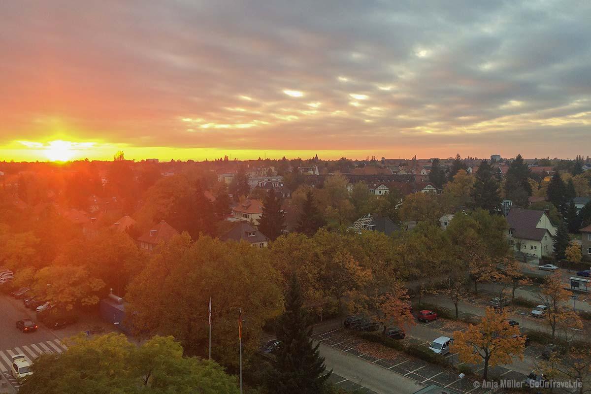 Sonnenuntergang mit Blick auf Berlin vom Klinikum Steglitz