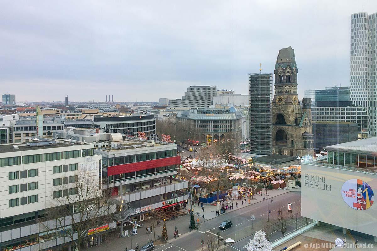 Vom Restaurant NENI hast du einen schönen Blick auf Berlin