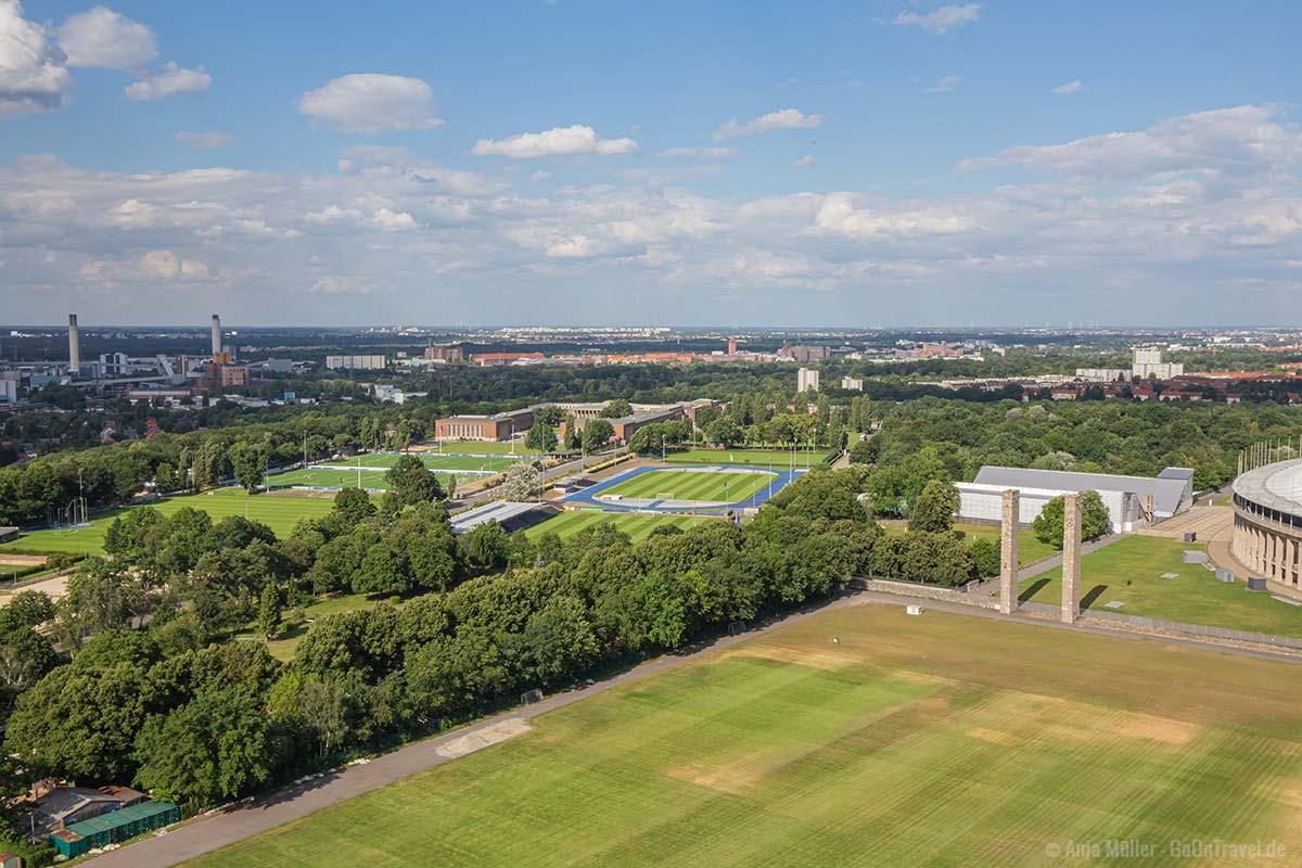 Blick auf den Olympia Park
