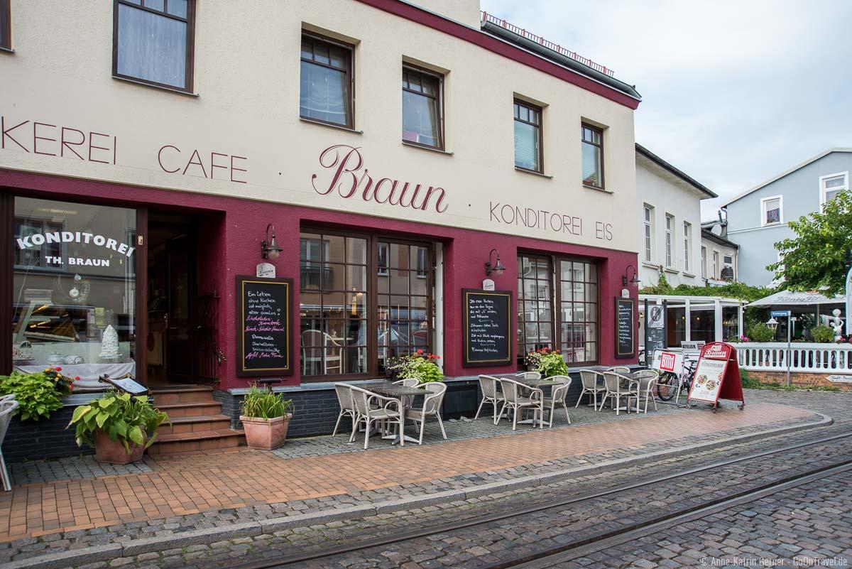 Konditorei und Café Braun in der Mollistraße