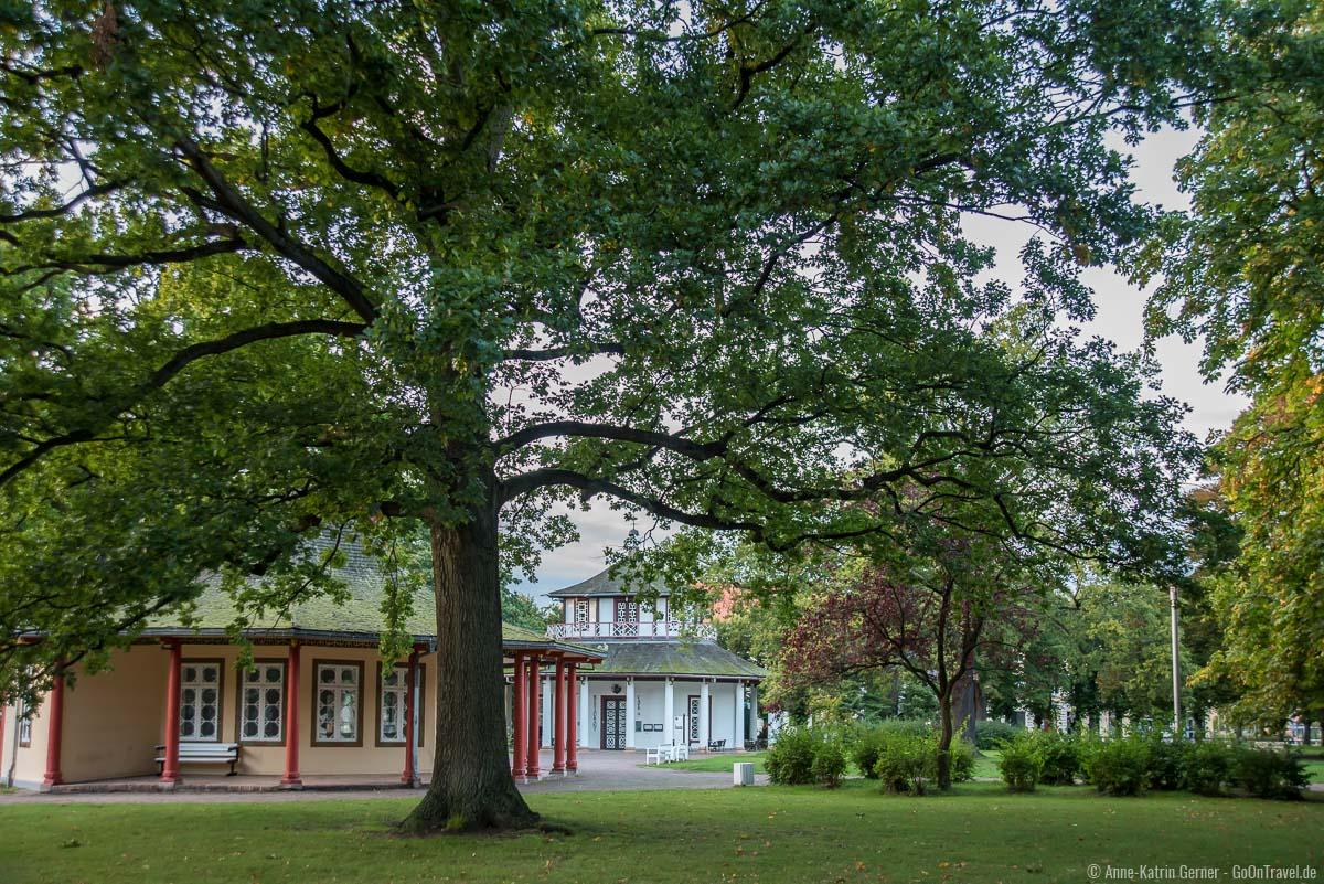 Roter und Weißer Pavillon im Kamp in Bad Doberan