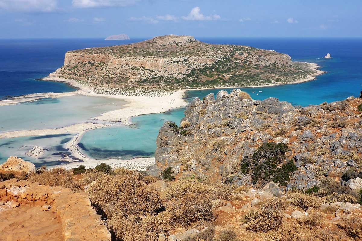 Balos Beach von oben