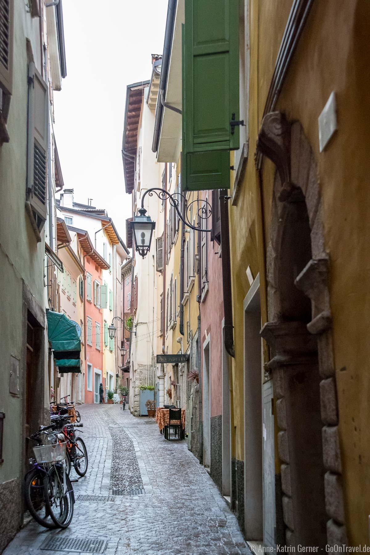 Schmale Gassen in Riva del Garda