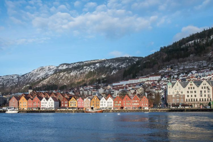 Bergen im Winter Norwegen