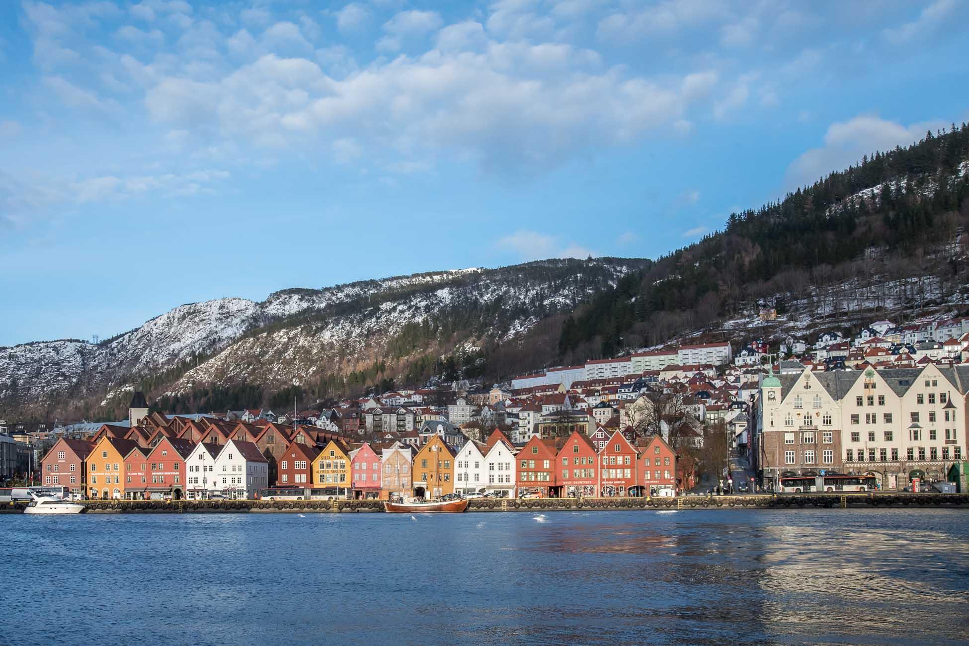 Bergen im Winter Norwegen