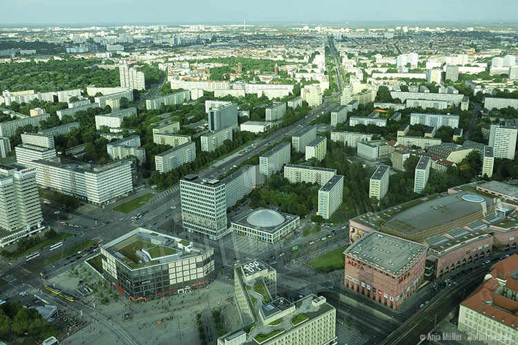 Blick vom Berliner Fernsehturm