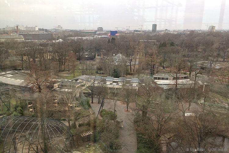 Blick auf den Zoo vom Restaurant NENI Berlin