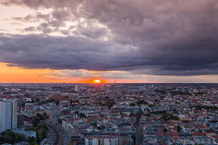 Blick auf Berlin von der Aussichtsterrasse im Park Inn