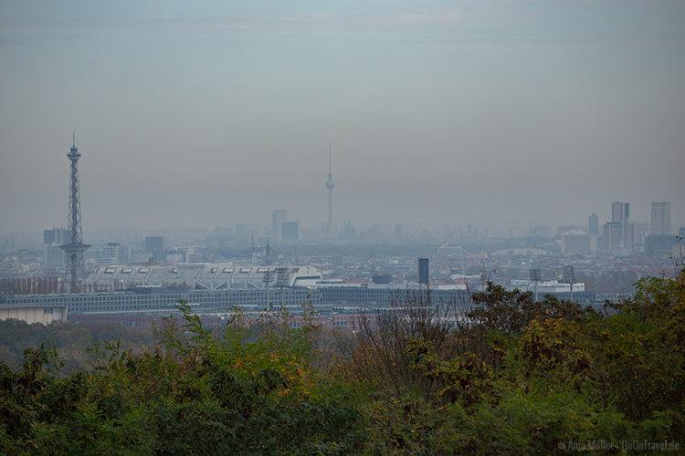 Blick auf Berlin vom Teufelsberg