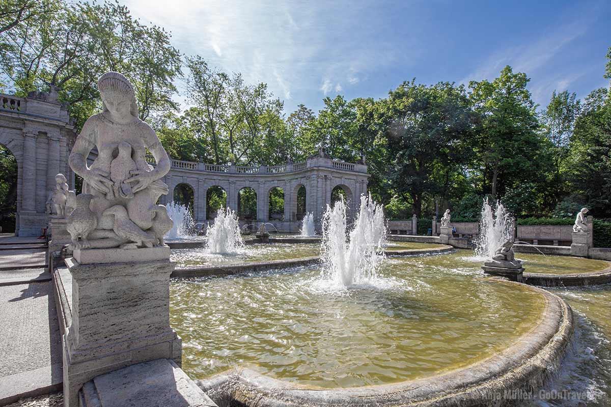 Der Märchenbrunnen im Volkspark Friedrichshain