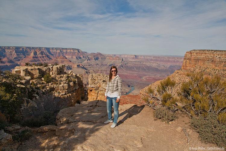 Natürlich darf das Posen vorm Grand Canyon auch nicht fehlen