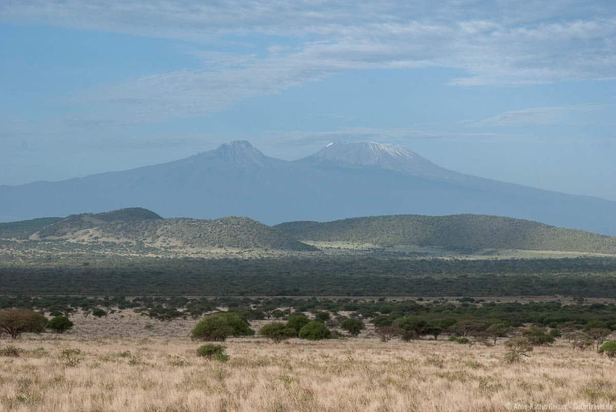 Tsavo West mit Blick auf den Kilimandscharo