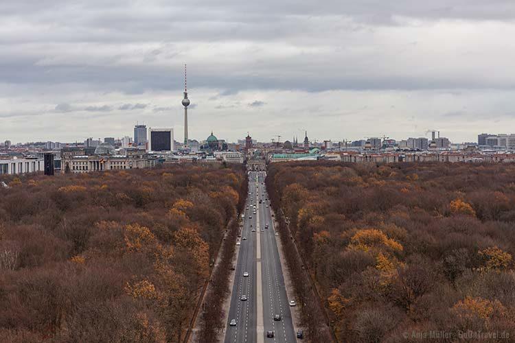 Blick auf Berlin von der Siegessäule