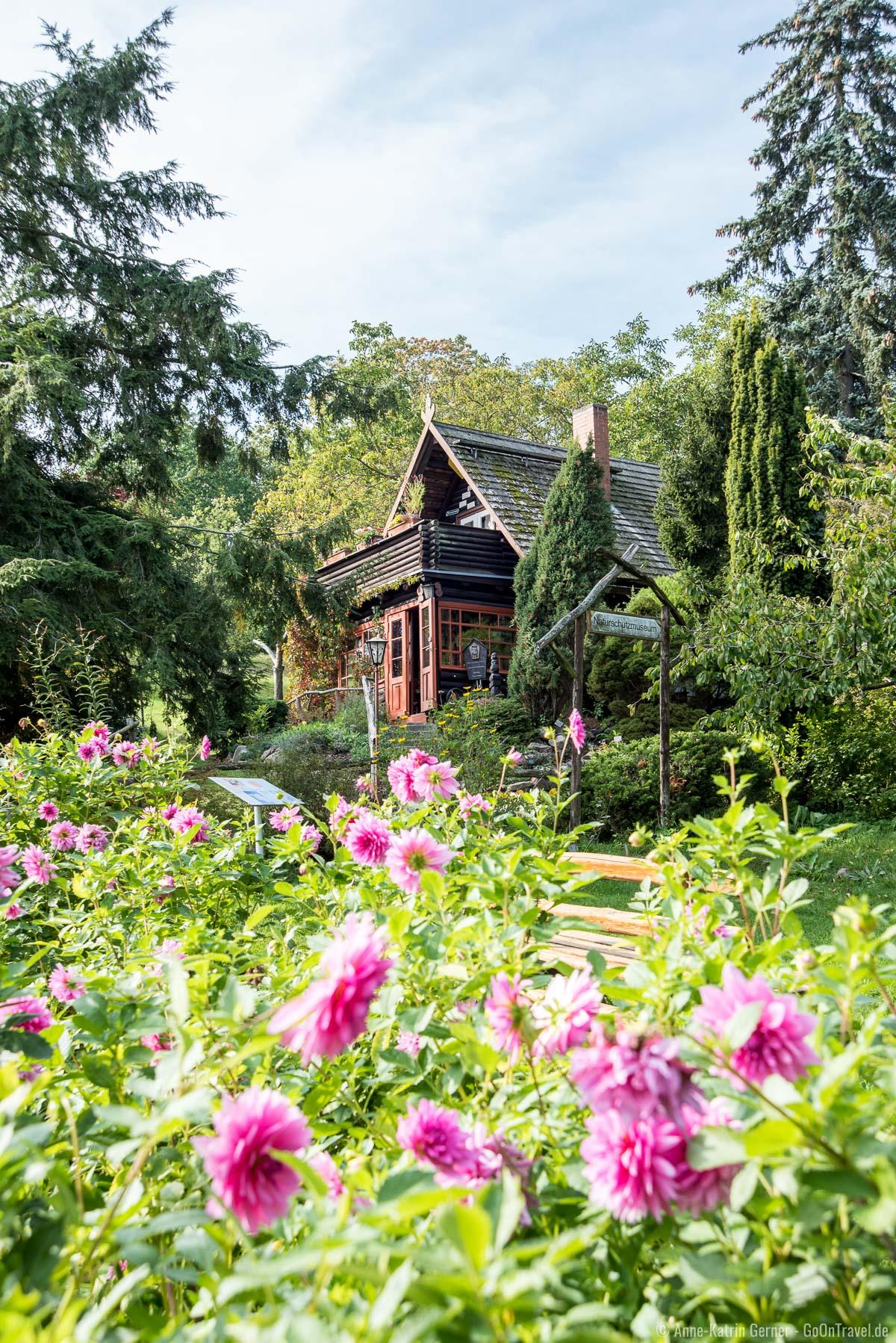 Naturschutzmuseum umgeben vom Schau- und Lehrgarten