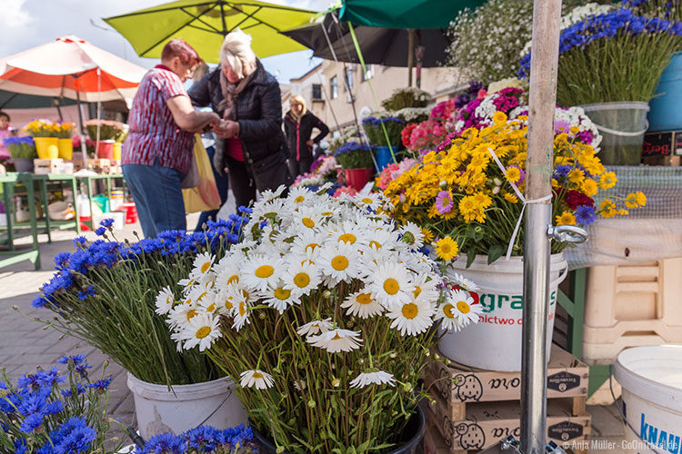 Auch Blumen werden auf dem Zentralmarkt angeboten