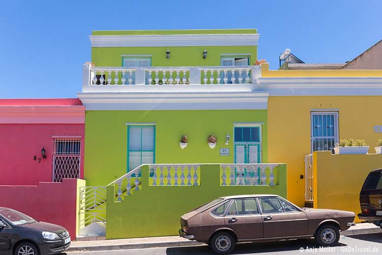 Die bunten Häuser am Blick Bo-Kaap