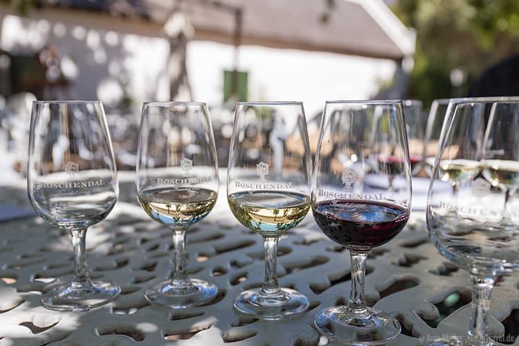 Weinprobe in Boschendal