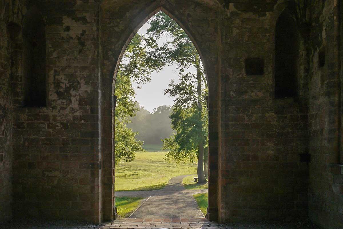 Blick aus dem Kloster Chorin