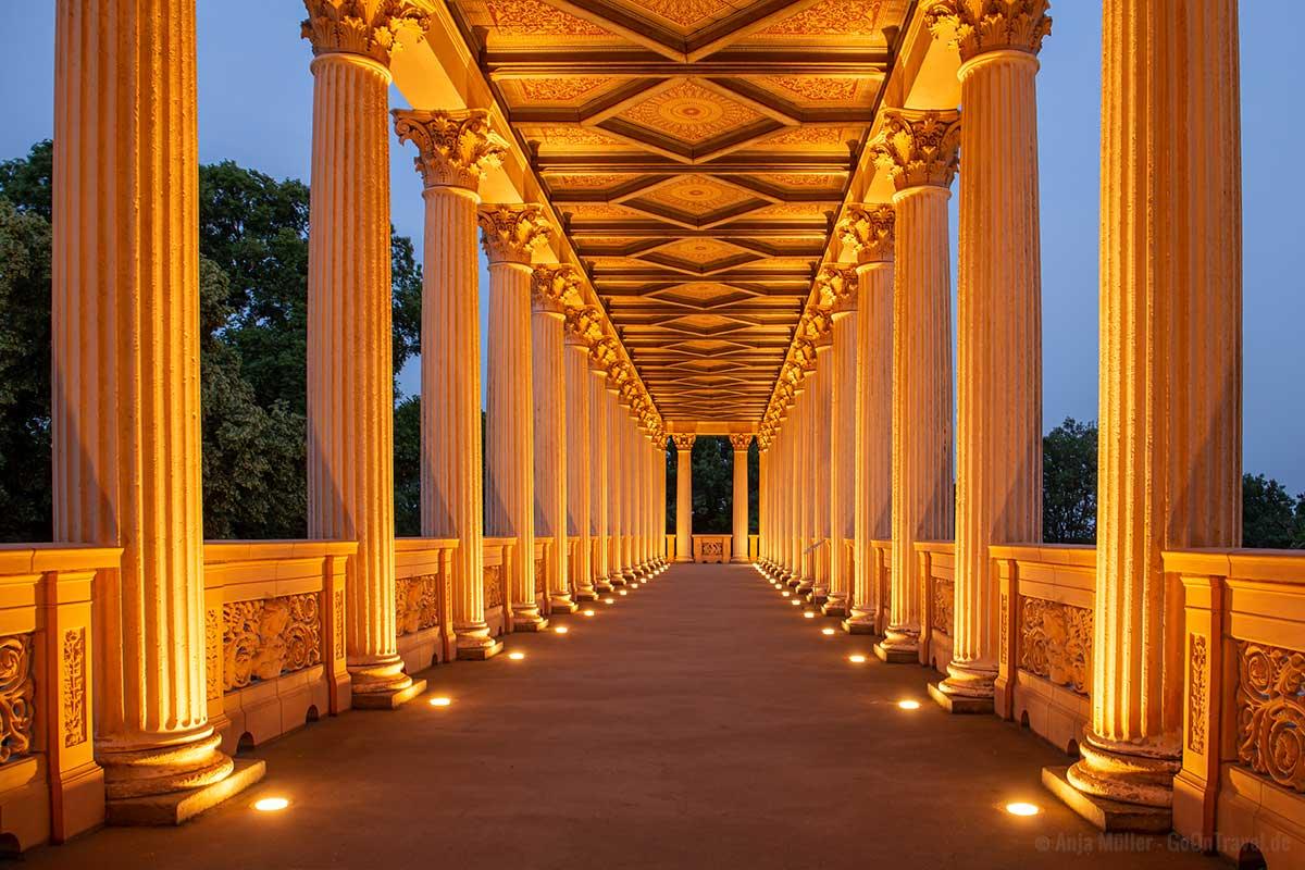 Säulengang im Schloss Belvedere