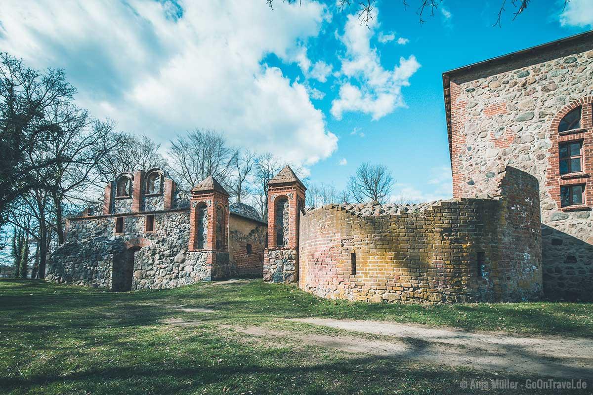 Reste der Wasserburg Gerswalde