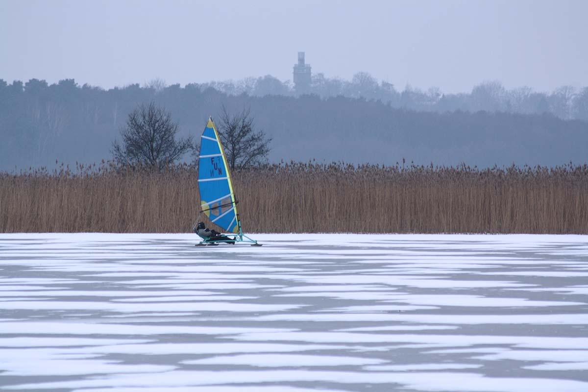 Eissegler am Grimnitzsee im Winter
