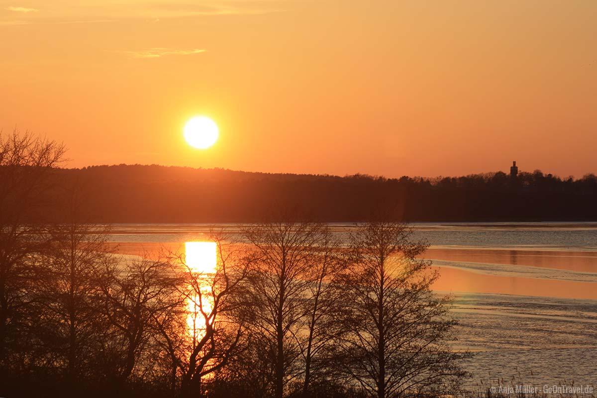 Schönster Sonnenuntergang an den Seen in Brandenburg