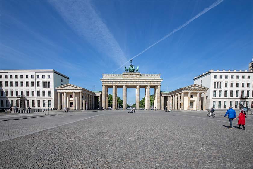 Selten war es so leer am Brandenburger Tor wie zu Zeiten von Corona