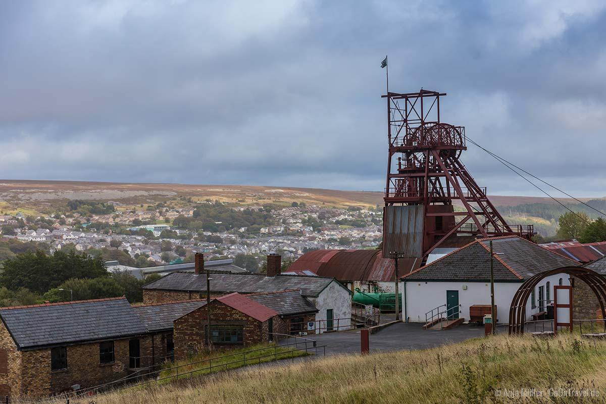 Das Big Pit National Coal Museum im Süden von Wales